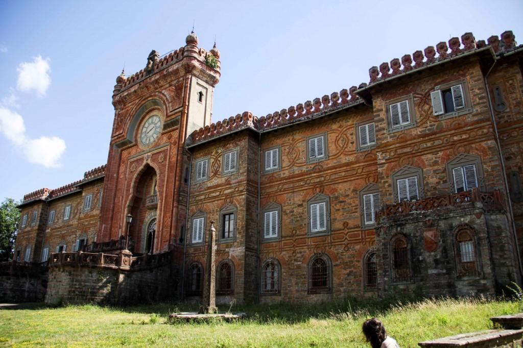 Indo-saracenic façade of the Castello di Sammezzano.