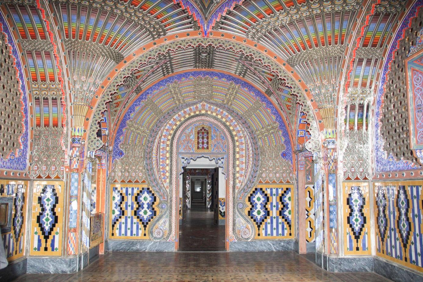 Peacock room of the Castello di Sammezzano.
