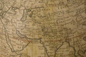 Detail of Horizontal Repair - de l'Isle globe, 1765