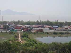 View from the Jawaharlal Nehru Port estate