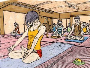Yoga manga (photo: Barry Silver under CC BY 2.0)