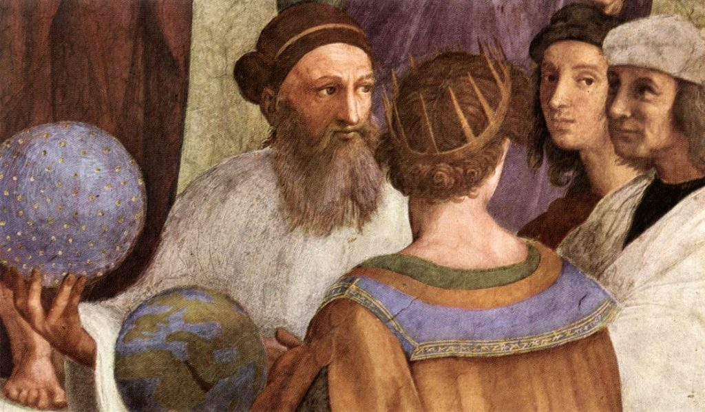 Raphael, The School of Athens, Detail, Source: Wikimedia, Licence: Public Domain