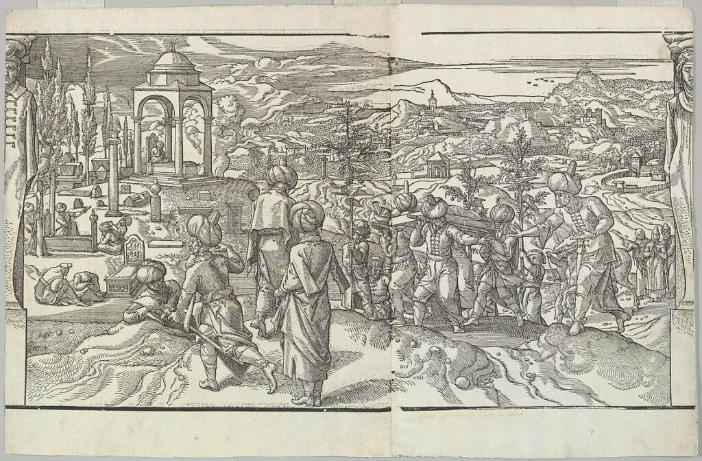 A Turkish Funeral in 1553.